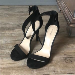 Forever 21 Simple Strap Black Heel